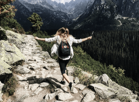 hiking in summer